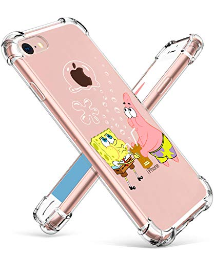 """Coralogo for iPhone 6 / 6S TPU Case, 3D Cute Cartoon Funny Design Character Protective Stylish Kawaii Fashion Fun Unique Cool Cover Skin Teens Kids Girls Cases for iPhone 6 / 6S 4.7"""" (Sponge Patrick"""