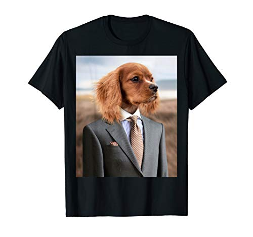 Dog in Suit and Tie T-Shirt, English Cocker Spaniel, MbASSP