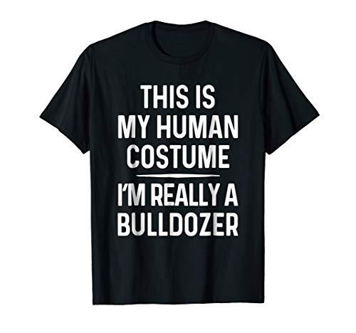 Funny Bulldozer Costume Shirt Halloween Bulldozer Tshirt