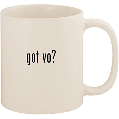 got vo? - 11oz Ceramic White Coffee Mug Cup, White