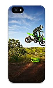 IMARTCASE iPhone 5S Case, Kawasaki Motocross Jump PC Hard Plastic Case for Apple iPhone 5S and iPhone 5