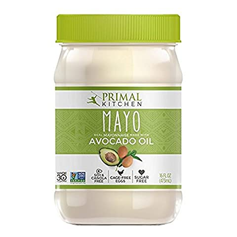 Primal Kitchen - Avocado Oil Mayo, First Ever Avocado Oil-Based Mayo, Organic, Gluten & Dairy Free, Whole30 & Paleo Approved, Now With 33% More Mayo In The New PET Plastic Jar (16 - Ingredients In Mayonnaise