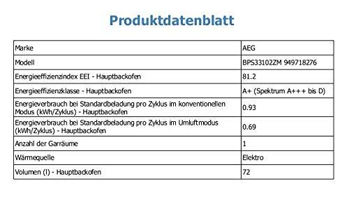Sehr AEG BPS33102ZM Einbaubackofen / Backofen mit Pyrolyse KP62