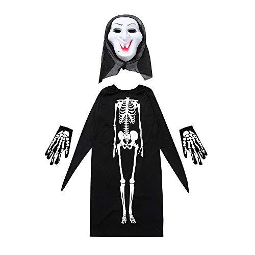 Sayolala Creepy Halloween Masks Women Men Halloween Cosplay Costume Cloak+Mask+Gloves Party City Halloween Masks