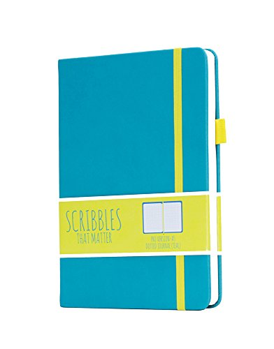 Scribbles That Matter (Pro version) Dotted Journal Notebook Diary A5 - Elastic Band - Beautiful Designer Cover - Premium Thick Paper (Teal) (Journal That)