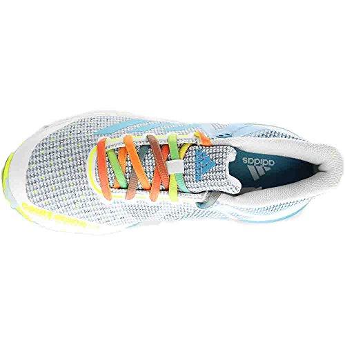 Scarpa Per Pallamano Adidas Court Stabil 13 Womens Bianco-vapore Blu-solare Giallo