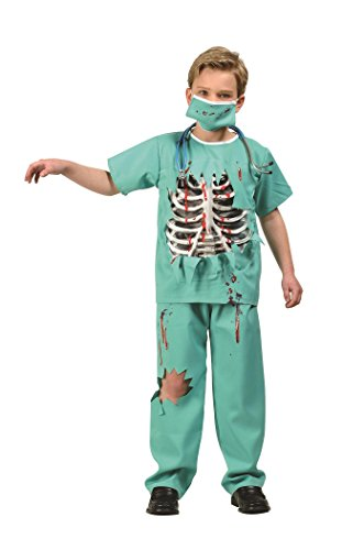 Scary Doctor Costume (RG Costumes Scary E.R. Doctor Costume, Green/White/Red,)
