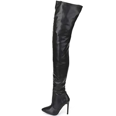 e6011180d JiaLuoWei Over The Knee Boots for Women High Heels Plus Size Unisex Boots  12cm High Heel