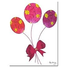 Trademark Fine Art Primrose Balloons by Kathie McCurdy Canvas Wall Art, 18x24-Inch