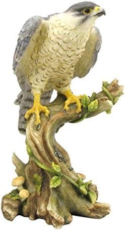 Peregrine Falcon Antique Bronze Finish Wild Life Birds Hawk Eagle Sculpture