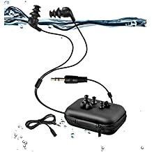 Sigomatech 100% waterproof swimming headphones(earbuds)-short cord, with 3 type earbuds for sort of sports(P.s:Only waterproof headphones without mp3 player)