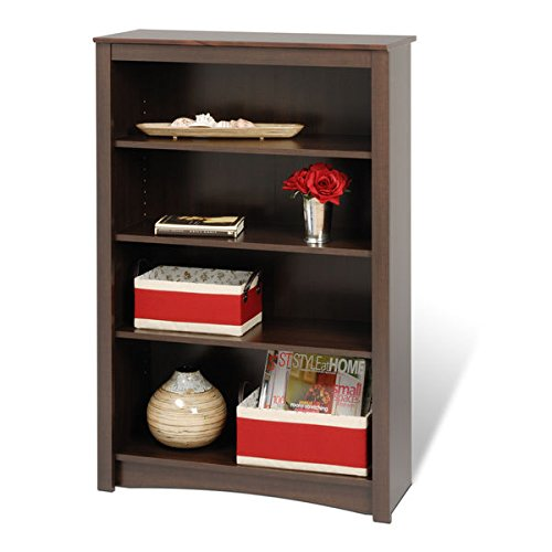 Bookcase / Bookshelves, Adjustable Shelving 4-shelf Bookcase E-3248-ELL in Laminated Composite Wood Material , Assembly Required