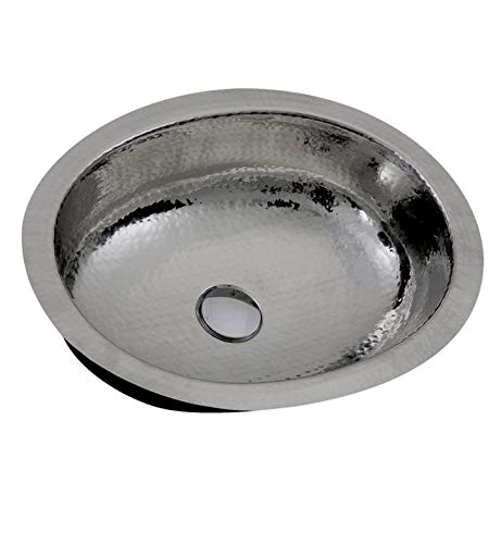 Nantucket Sinks OVS-OF Hand Hammered Stainless Undermount Sink w/Overflow
