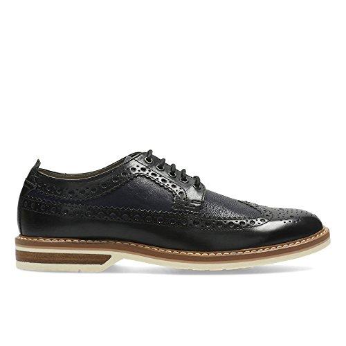 Clarks Elegante Casual Hombre Zapatos Pitney Limit En Piel Negro