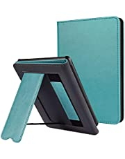 CoBak Kindle Paperwhite Case with Stand - Durable PU Leather Smart Cover with Auto Sleep Wake, Hand Strap Feature, ONLY Fits All New Kindle Paperwhite 10th Generation 2018 Released, Sky Blue