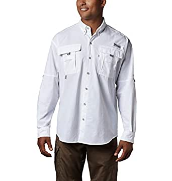 Columbia Men's Bahama II Long Sleeve Shirt, White, XX-Large