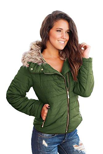Femme Shelovesclothing Blouson Blouson Femme Shelovesclothing Militaire Vert q1w4FT4H