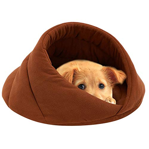 Soft Warm Pet Dog Bed Small Dog Cat Sleeping Bag Puppy Cave Beds,Orange,52x52x35 cm ()