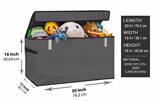JUMBO Collapsible Toy Chest for Kids  Toy Organizer, Huge St