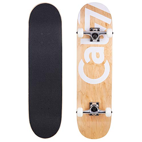 Cal 7 Fossil Skateboards   Complete Preassembled Blank Board   Natural Wood   Youth and Adults (8 Inch Tundra) ()