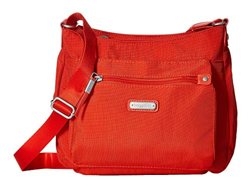 Baggallini Women's New Classic Uptown Bagg with RFID Phone Wristlet Vibrant Poppy One Size