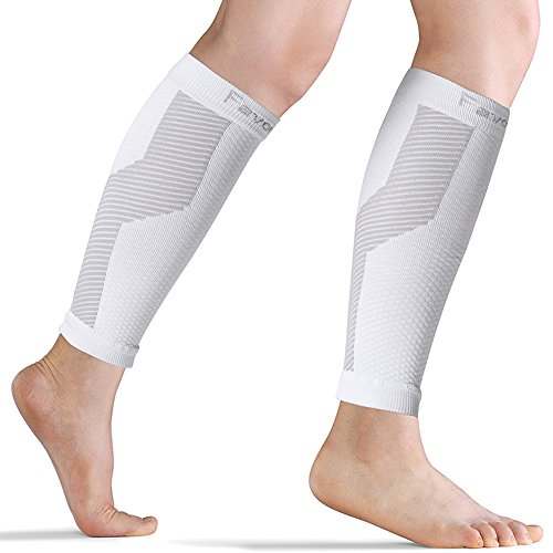 FavorGear Calf Compression Sleeve (1 PAIR) Performance Leg Compression Socks for Men and Women- Varicose Veins/Compression Calf Guards Relieves Lower Leg Pain and Cramps/Runners Calves Circulation