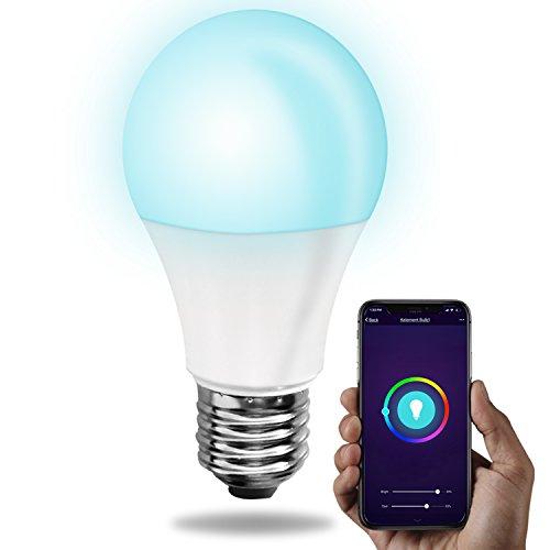 kelement smart wifi led rgb bulb works with alexa google assistant smartphone controlled. Black Bedroom Furniture Sets. Home Design Ideas