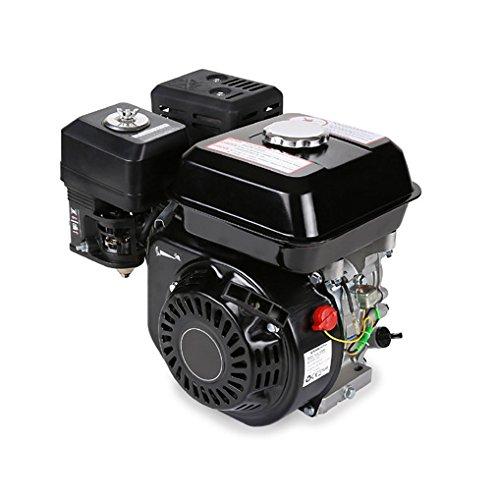 20 mm Arbre, Alarme manque dhuile, 4 Temps, 1 Cylindre, Refroidissement /à air, D/émarrage via c/âble EBERTH 6,5 CV Moteur /à essence thermique