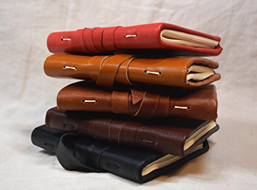 Handbound leather wrap journal or (Medieval Scribe Costume)