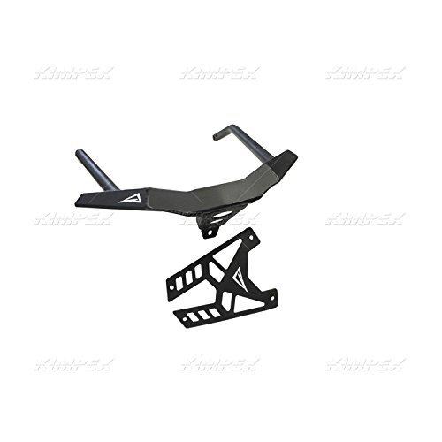 Skinz Protective Gear Front Custom Aluminum Bumper - Flat Black PFB350-FBK