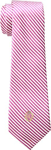 LAUREN Ralph Lauren Men's Silk Seersucker Tie Pink/White One Size -