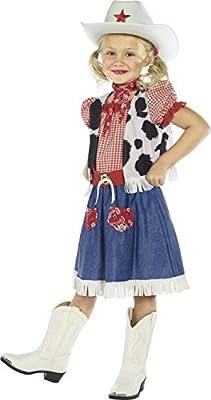 Smiffys-36328M Disfraz de niña vaquerita, con Vestido, Camiseta ...
