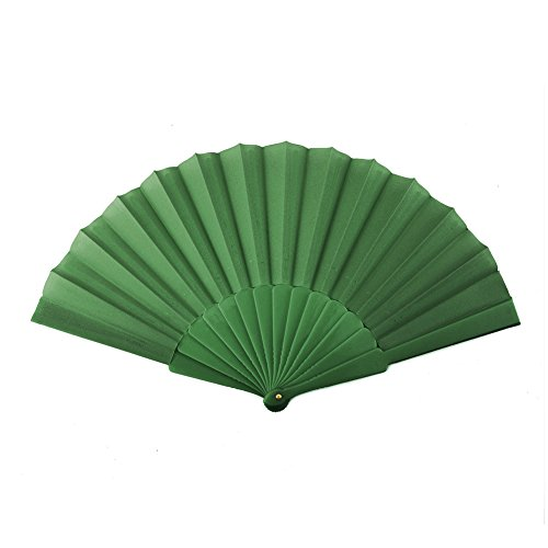 Aspire Plastic Spanish Folding Fans, Performance Folding Fan / Dancing Fan, Party Decoration - Green,10 Dozens by Aspire