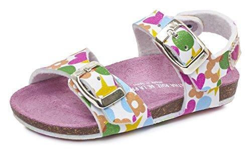 Agatha Ruiz de la Prada 172926, Sandalias para Bebés, Varios Colores (Blanco / Estampado Iconos / Mat Brillo), 27 EU