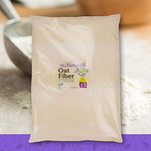 NuNaturals All Natural Oat Fiber, Non-GMO Certified (5 lbs) - Husk Laxative Psyllium