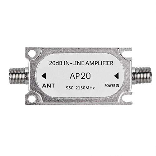 ASHATA Amplificador de Señal Portátil Universal para Sistema de Satélite/Señal de Televisión/TV