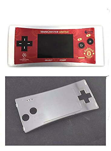 Faceplate Label Sticker + Plastic Clear Panel for Gameboy Micro GBM Faceplate Front Cover # Color 4 (Gameboy Color Faceplates)