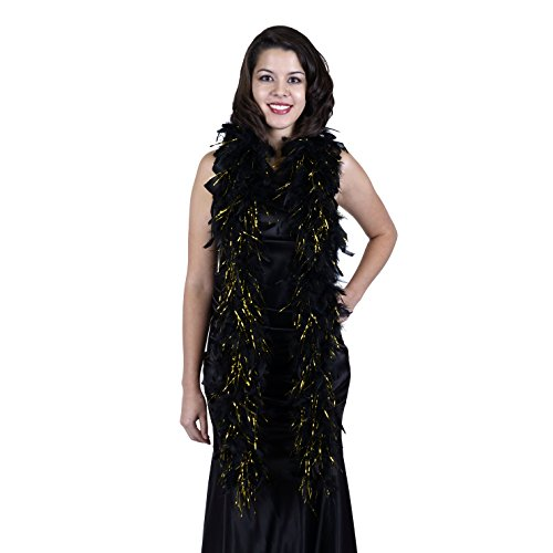 Zucker Feather (TM) - Chandelle Boas with Lurex - Black/Gold Lurex]()