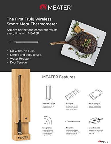 MEATER | Termometro Bluetooth Fino a 10 Metri a Sonda Senza Fili Per Forno, Grigliate, Barbecue. App in Italiano… 6
