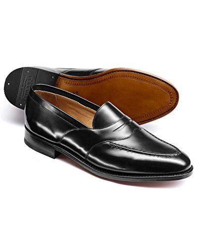 Black Goodyear Welted Saddle Loafer by Charles Tyrwhitt Black cNimF81