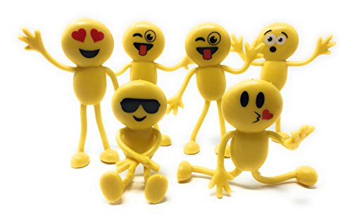 Emoji Party Favors - Fun Toys by OTTC - Emoji Party Favors for Kids Will Brighten Any Day - 1 Dozen 4.5