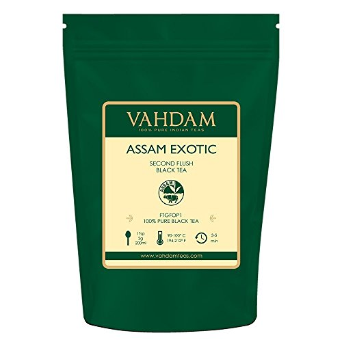 Assam Leaf Loose - VAHDAM, Assam Tea Leaves with Golden Tips, 3.53 Oz (50 Cups) - Strong, Malty & Rich - Exotic Assam Tea Loose Leaf - 100% Certified Pure Assam Black Tea - English Breakfast Tea