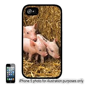 Piglets 3 Little Pigs Photo Apple iPhone 5C Hard Back Case Cover Skin Black FITS FOR 5C
