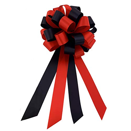 Black and Red Pull Bows - 8
