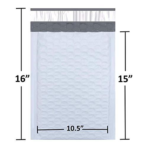 Poly Bubble Mailers #5 Bubble Envelopes 10.5x16 Inch Padded Envelopes 25pcs
