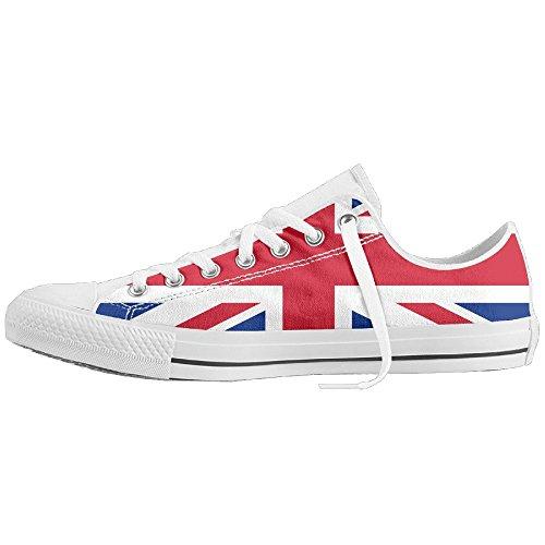 Jack Union Wear (Union Jack Unisex Classic Canvas Lace Up Shoes Sneakers For Men & Women)