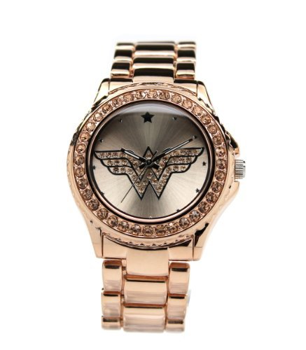 Wonder Woman Watch RoseGold with Light Peach Toned Stones (WOW 8008) ()