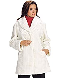 Faux White Fur Coat