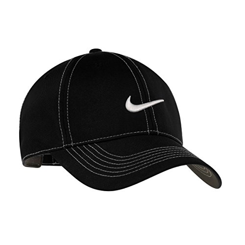(Nike Golf - Swoosh Front Cap , 333114, Black, No Size)