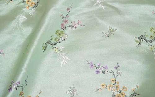 Amazon.com: Chino Brocade Fabric (Cherry Blossom de raso y ...